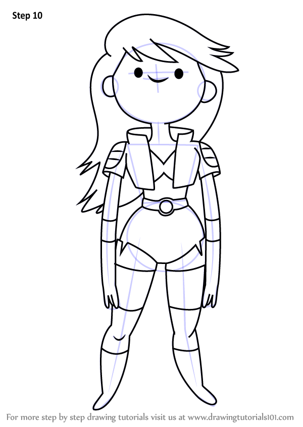 Learn how to draw beth tezuka from bravest warriors for Catbug coloring pages