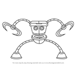 How to Draw Robo Toilet 30000 from Breadwinners