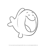 How to Draw Big Blue Fish from Bubble Guppies