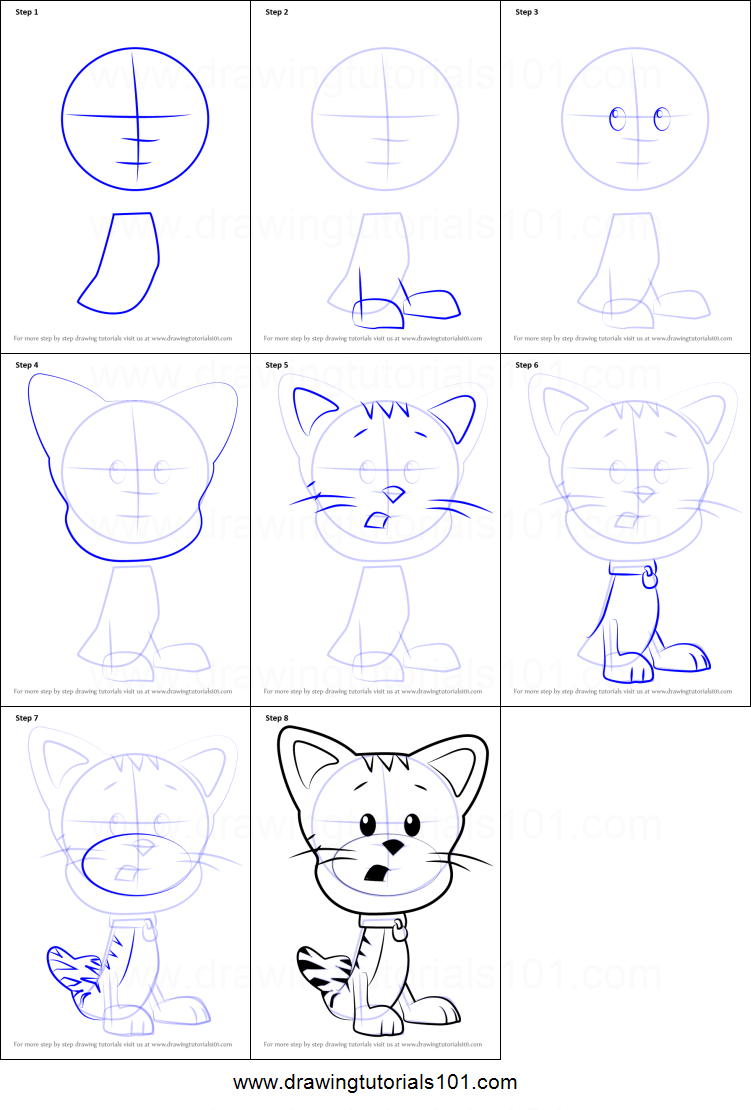 how to draw bubble kitty from bubble guppies printable step by