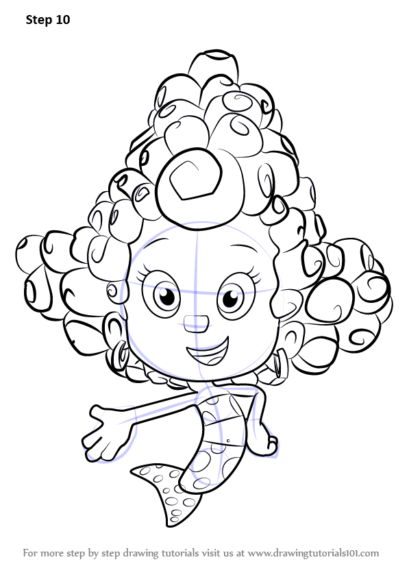 Learn How To Draw Deema From Bubble Guppies Bubble