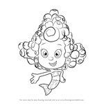How to Draw Deema from Bubble Guppies