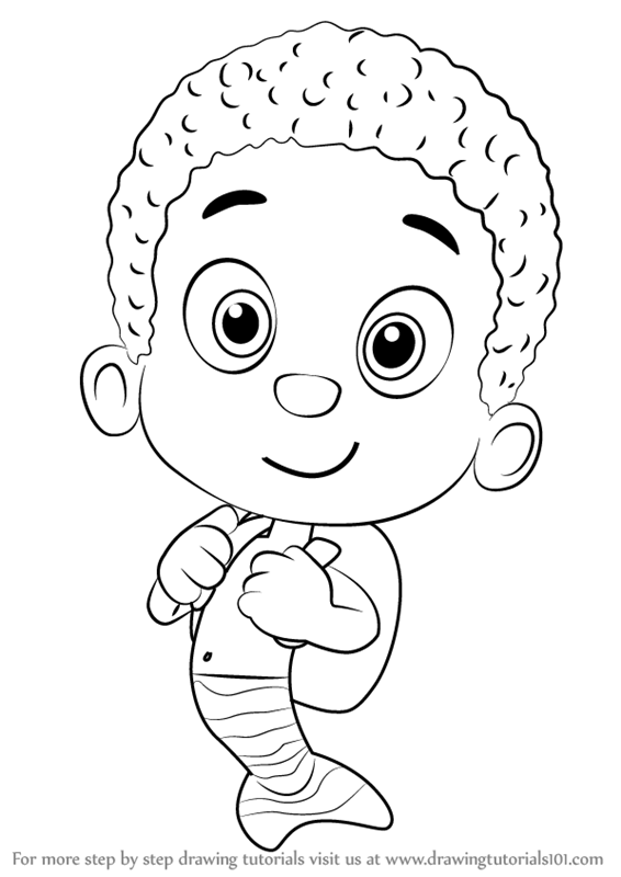 learn how to draw goby from bubble guppies bubble guppies step by step drawing tutorials