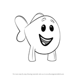 How to Draw Little Fish from Bubble Guppies