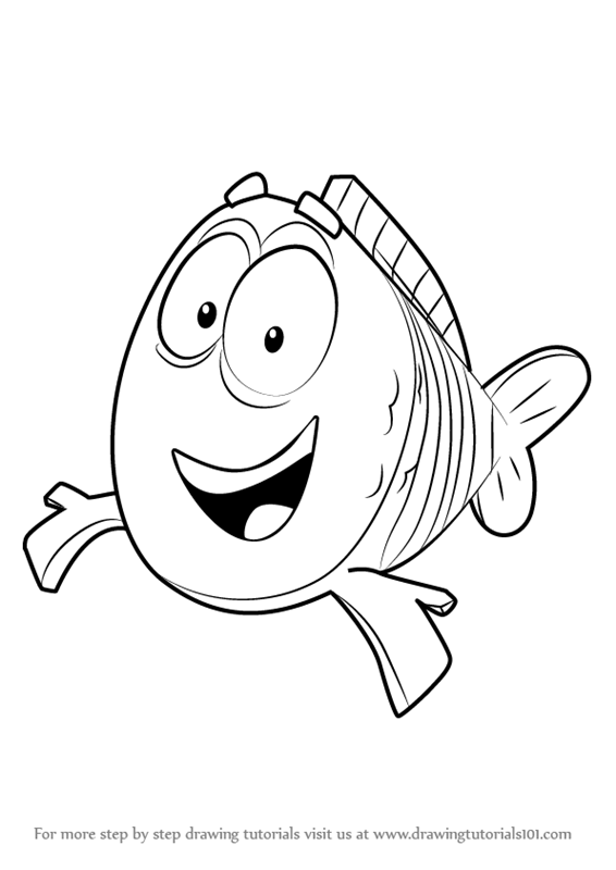 Learn How To Draw Mr Grouper From Bubble Guppies Bubble Children Guppies Coloring Pages