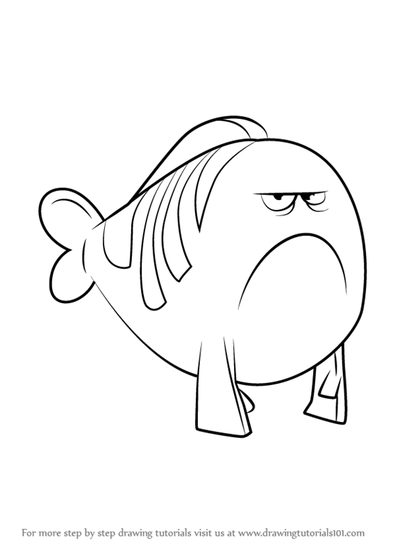 Learn How To Draw Mr Grumpfish From Bubble Guppies Children Guppies Coloring Pages