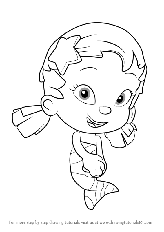 learn how to draw oona from bubble guppies (bubble guppies) step ... - Bubble Guppies Coloring Pages Oona