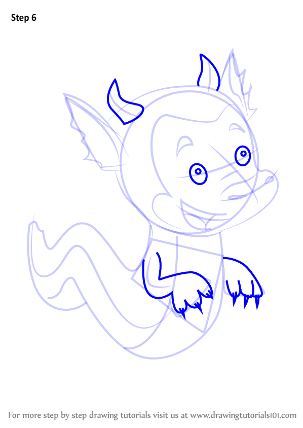 Learn How To Draw The Dragon Puppy From Bubble Guppies
