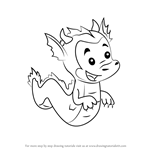 How to Draw The Dragon Puppy from Bubble Guppies