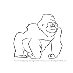 How to Draw The Sad Gorilla from Bubble Guppies
