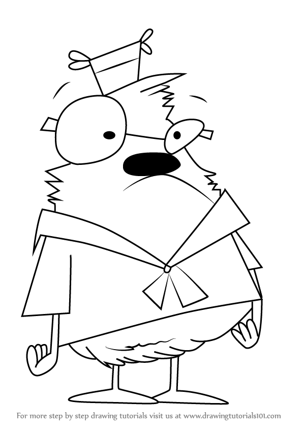 Learn How To Draw Samson From Camp Lazlo Camp Lazlo Step