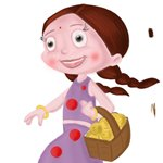 How to Draw Chutki from Chhota Bheem
