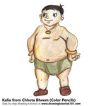 How to Draw Kalia from Chhota Bheem