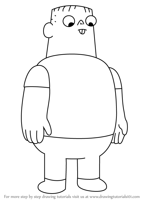 Learn How To Draw Nathan From Clarence Clarence Step By