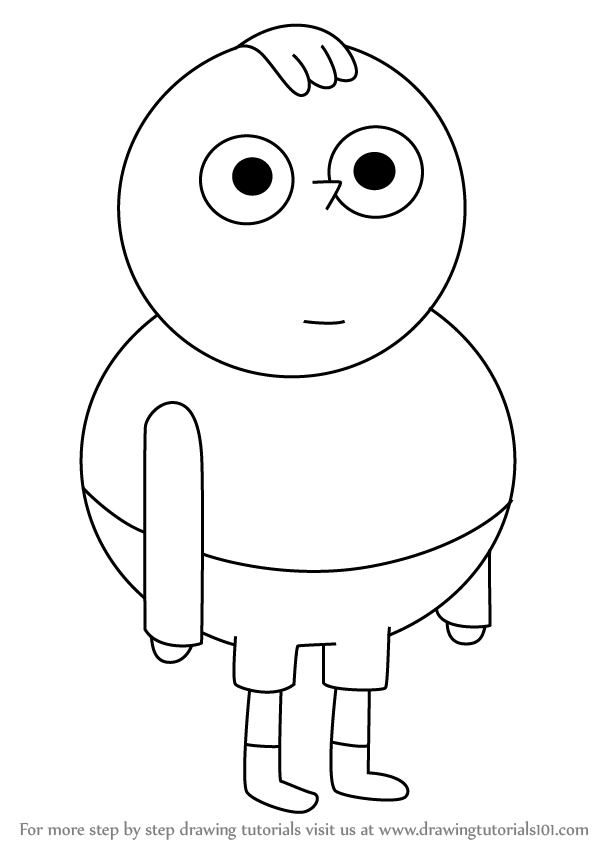 Learn How to Draw Percy from Clarence Clarence Step by