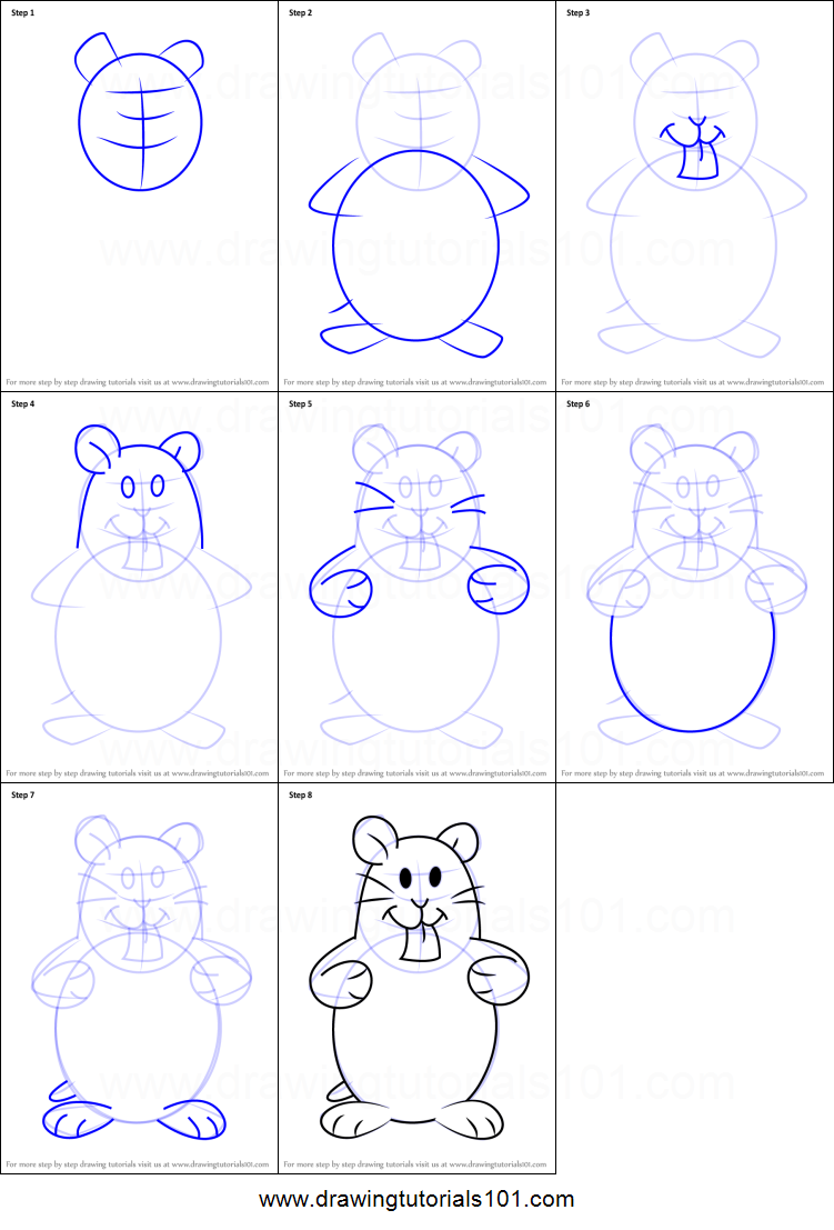 Uncategorized How To Draw Hamsters how to draw hamsters from kids next door printable step by drawing sheet drawingtutorials101 com