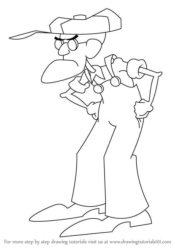 Learn How To Draw Eustace Bagge From Courage The Cowardly