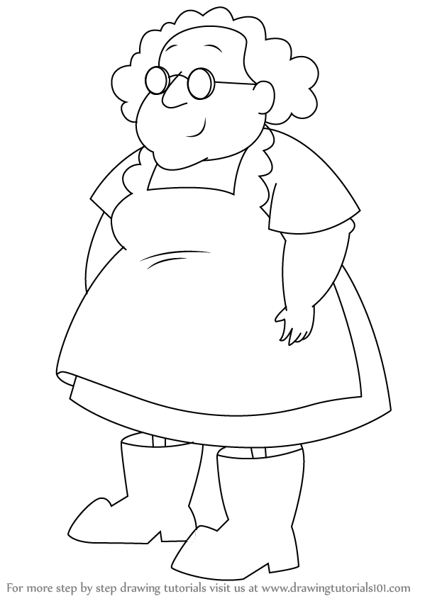 Learn How to Draw Muriel Bagge