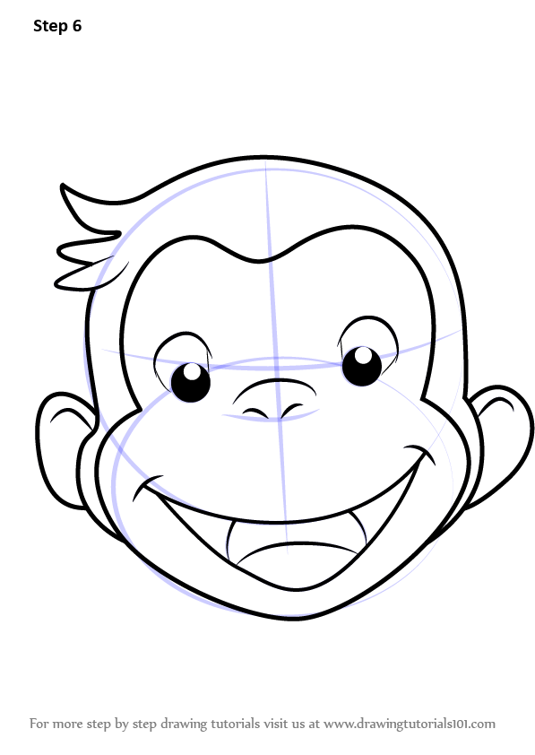 learn how to draw curious george face  curious george