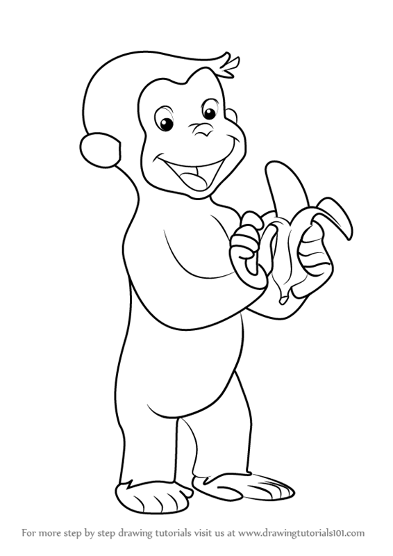 How To Draw Curious George Monkey