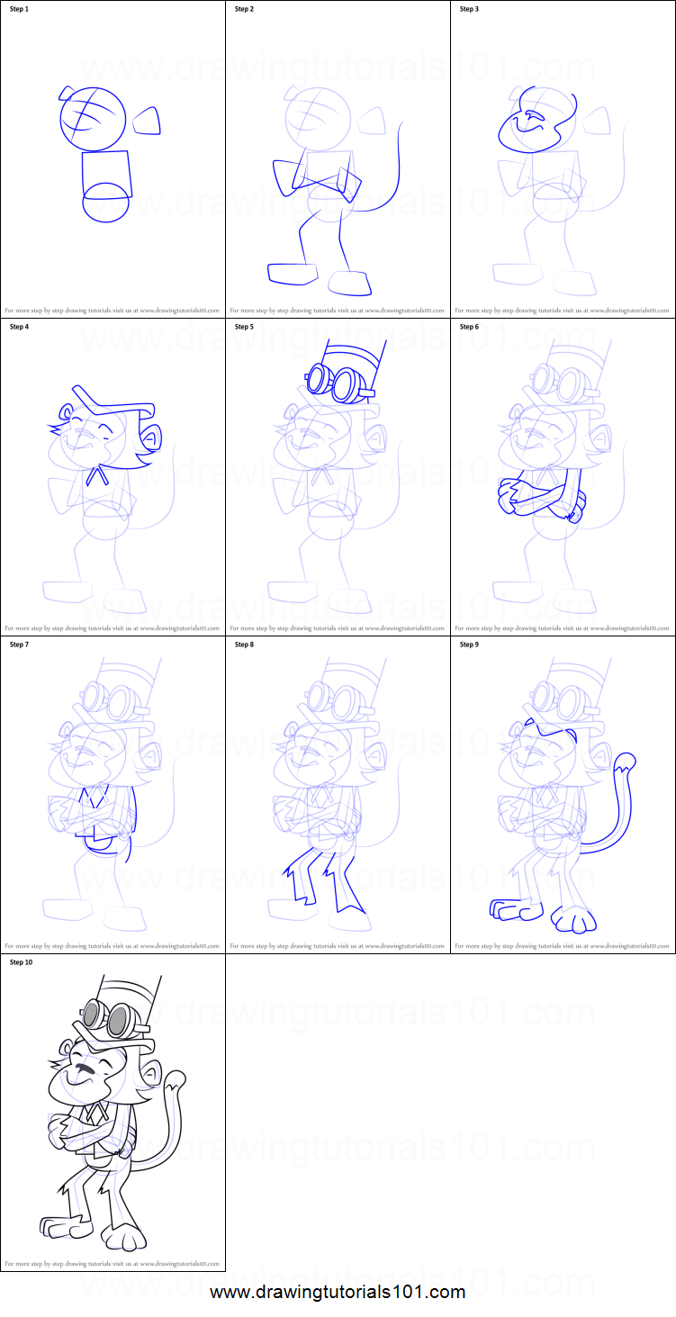 How To Draw Isambard Kingkong Brunel From Danger Mouse Printable
