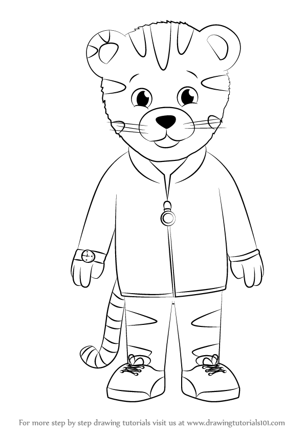 Learn How to Draw Daniel Striped Tiger from Daniel Tiger\'s ...