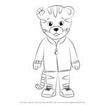 How to Draw Daniel Striped Tiger from Daniel Tiger's Neighborhood