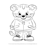 How to Draw Daniel Tiger from Daniel Tiger's Neighborhood