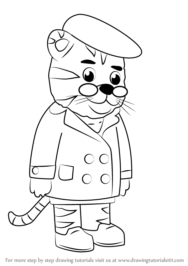 Learn How to Draw Grandpere Tiger from Daniel Tiger\'s Neighborhood ...