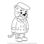 How to Draw Grandpere Tiger from Daniel Tiger's Neighborhood