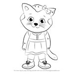 How to Draw Katerina Kittycat from Daniel Tiger's Neighborhood