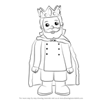How to Draw King Friday XIII from Daniel Tiger's Neighborhood