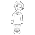 How to Draw Lady Elaine from Daniel Tiger's Neighborhood