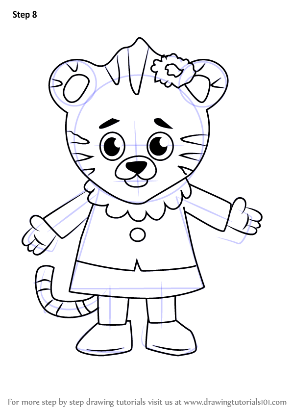 Learn How To Draw Margaret Tiger From Daniel Tiger S