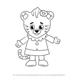 How to Draw Margaret Tiger from Daniel Tiger's Neighborhood