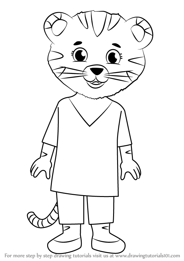 Learn how to draw mom tiger from daniel tiger 39 s for Daniel tiger coloring pages