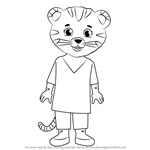 How to Draw Mom Tiger from Daniel Tiger's Neighborhood