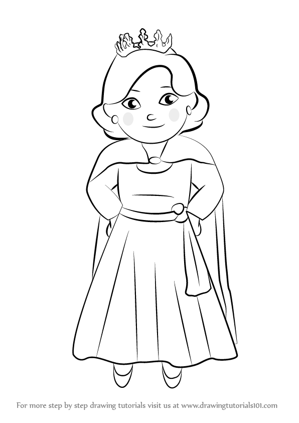 Learn How To Draw Queen Saturday From Daniel Tiger S Neighborhood