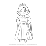 How to Draw Queen Saturday from Daniel Tiger's Neighborhood