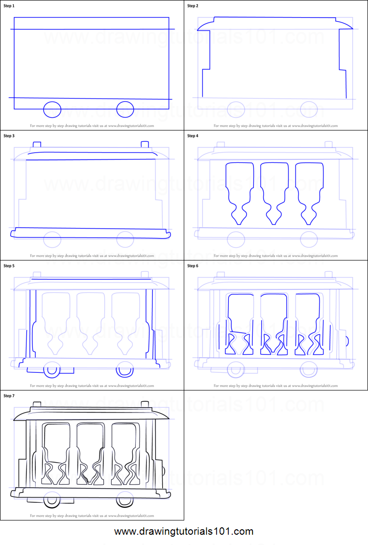 How To Draw Trolley From Daniel Tiger S Neighborhood