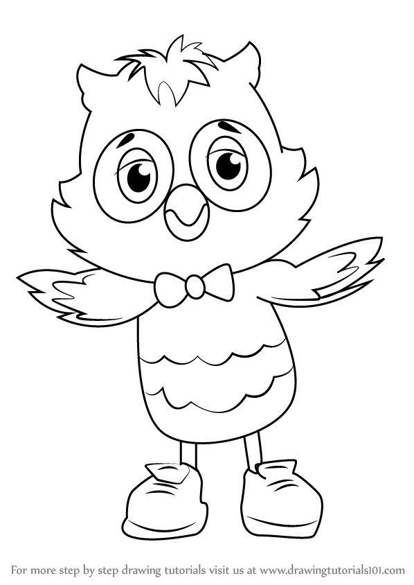 Learn How to Draw X the Owl from