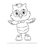 How to Draw X the Owl from Daniel Tiger's Neighborhood