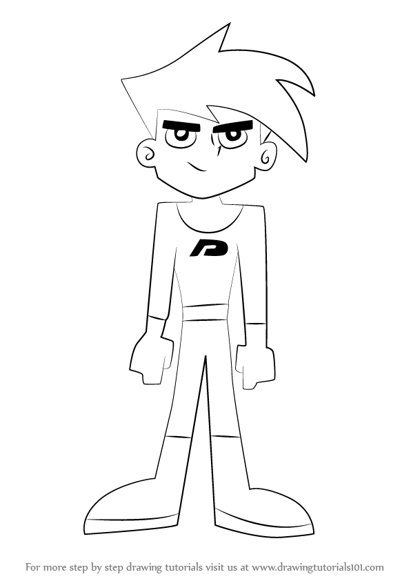 Line Drawing How To : Learn how to draw danny from phantom
