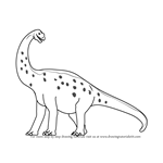 How to Draw Alan Alamosaurus from Dinosaur Train