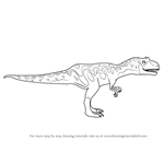 How to Draw Alvin Allosaurus from Dinosaur Train