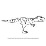 How to Draw Boris Tyrannosaurus from Dinosaur Train