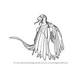 How to Draw Chung Confuciusornis from Dinosaur Train