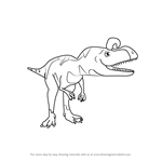 How to Draw Crystal Cryolophosaurus from Dinosaur Train