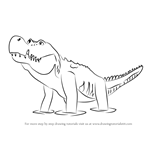 How to Draw Deanna Deinosuchus from Dinosaur Train