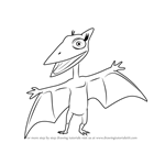 How to Draw Don Pteranodon from Dinosaur Train